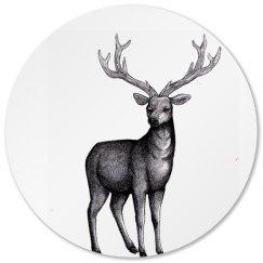 Deer sketch coaster