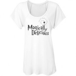 Magically Delicious with fairy Wand Flowing T-Shirt