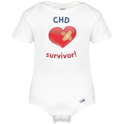 Infant's CHD survivor onesie