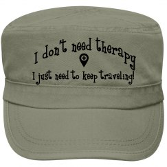 Travel=Therapy Cap