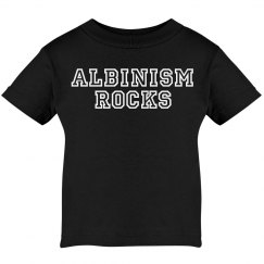 Albinism Rocks- Black and White Toddler T