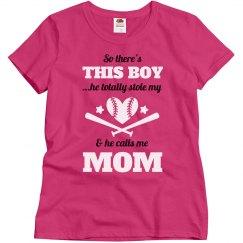 Plus Size Baseball Mom Heart Tee