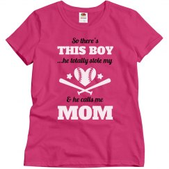 Plus Size Baseball Mom Heart Tee