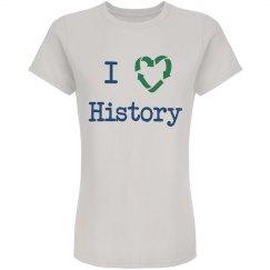 """""""I Love History"""" Tee"""