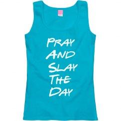 Pray and Slay Scoop Neck Tank