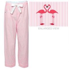 Pink Love Flamingos pjs