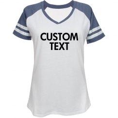 Custom Sporty V-Neck Tee