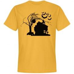 Halloween Manor Silhouette Unisex Tee