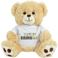 Stuffed Lion I Love my Army Dad