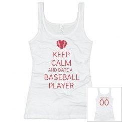 Keep Calm Baseball Girl