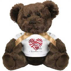 Love Never Fails Teddy Bear