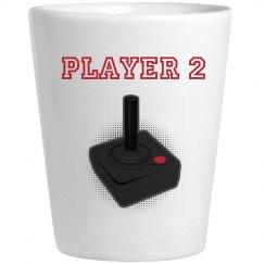 Player 2 Shotglass