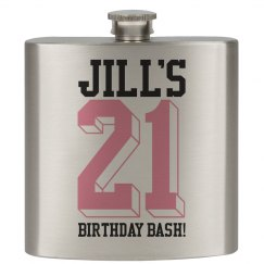 21 Birthday Bash Flask