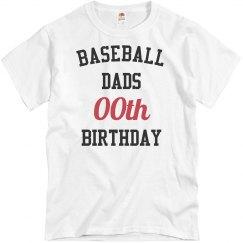 Customize baseball dad bday