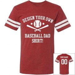 Design Your Baseball Dad Shirt