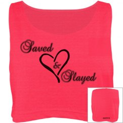 Saved and Slayed Crop Tee