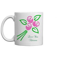 Personalized Tulip Mug