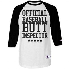 Funny Official Baseball Butt Inspector Shirt