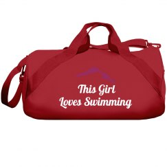 This girl loves swim