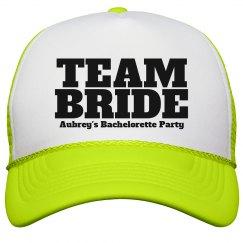 Aubrey's bachelorette cap