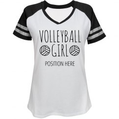 Custom Volleyball Position Team Shirt