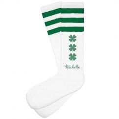 Shamrock St Patricks day Socks