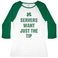 Funny Irish Pub Server Tee
