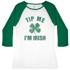Cute Irish Server Tip Me I'm Irish