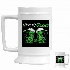 Green Beer Humor Stein