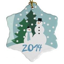 Christmas Snow Ornament