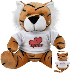 Red Hearts Plush Tiger