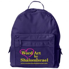 Word Art by ShalomIsrael BackPack