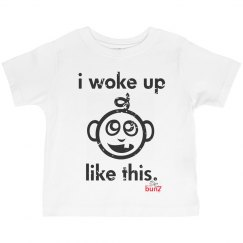 Toddler boy woke up Tee