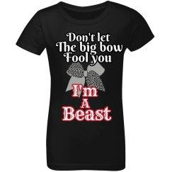 Beast Cheer Girls' Tee