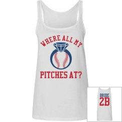 Budget Priced Baseball Bachelorette Party Tank Tops