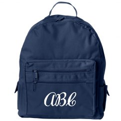 Custom Initials Kids School Bag