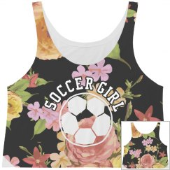 Soccer Girl Floral Crop Top