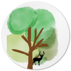 Tree and Elk Coaster