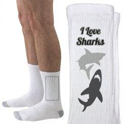 I Love Sharks - Unisex socks