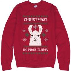 Llama Pun Ugly Christmas Sweater