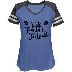Faith Family and Football Tee
