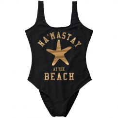 Na'mastay Metallic Swimsuit