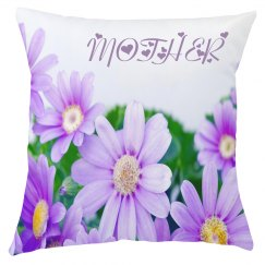Purple Floral Mother Cushion