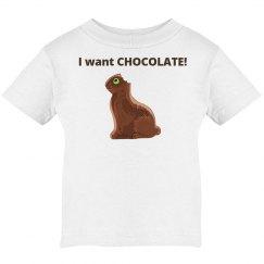 Chocolate Bunny Infant Tee