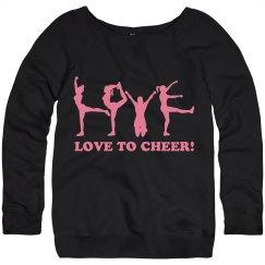 Love to Cheer Scoopneck