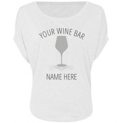 Wine Bar With Glass
