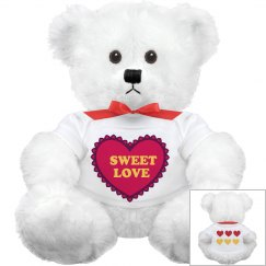 Pretty Heart Cuddly Bear