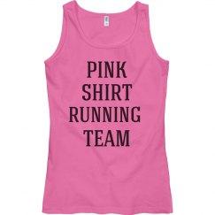 Pink shirt running team