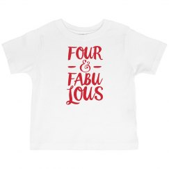four and fab 4th bday tee