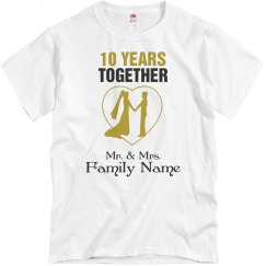 10th wedding anniversary shirt
